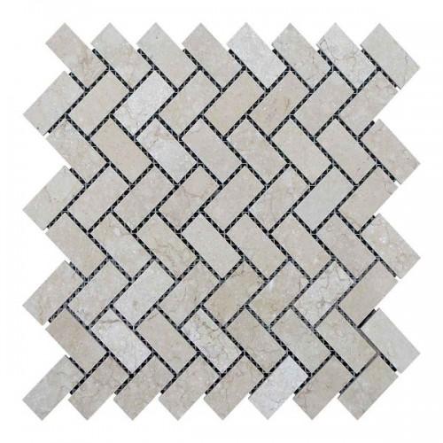 Мраморная мозаика Beige Mix 47х23x6 мм Полированная