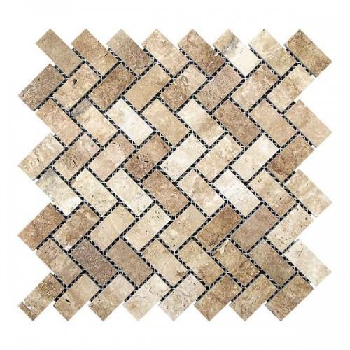 Мозаика Травертин Classic 47х23x6 мм Полированная | Прямоугольная