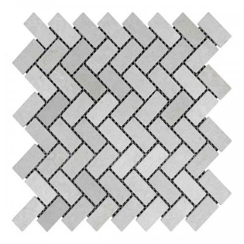 Мраморная мозаика Beige Mix 47х23x6 мм Стареная|Валтованная