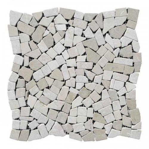 Хаотичная мраморная мозаика Beige Mix 23х15x6 мм Стареная | Валтованная