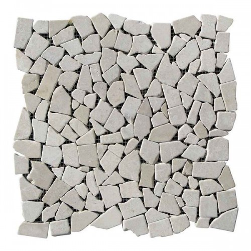 Хаотичная мраморная мозаика Beige Mix 6 мм Стареная   Валтованная