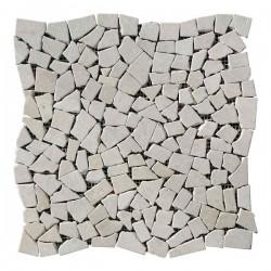 Хаотичная мраморная мозаика Victoria Beige 6 мм Стареная   Валтованная